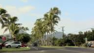 WS Traffic on road in Kailua, Hawaii, USA