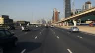 POV Traffic on Sheikh Zayed Road / Dubai, United Arab Emirates