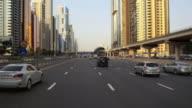 T/L Traffic on Sheikh Zayed Road / Dubai, United Arab Emirates
