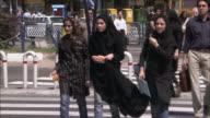 CU Traffic on street, Tehran, Iran