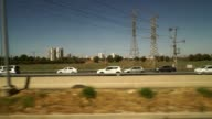 Traffic on the freeways in central Israel