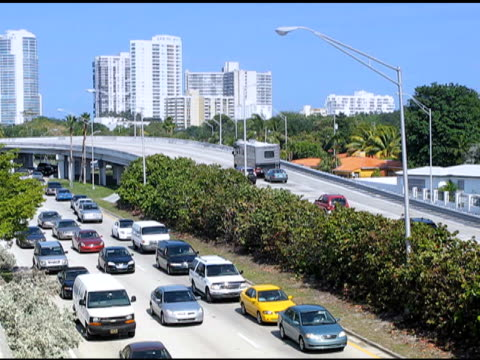 Traffic on the outskirts of Miami