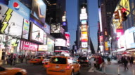 WS Traffic on Times Square at dusk / New York City, New York, USA