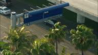 MS, HA, Traffic outside airport terminal, Los Angeles International Airport, Los Angeles, California, USA