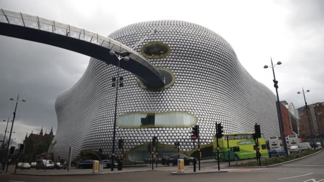 Traffic passes the Selfridges Co department at the Bullring shopping center operated by Hammerson Plc in Birmingham UK on Tuesday Aug 13 Customers...
