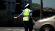 NYC Traffic Police Directing Cars