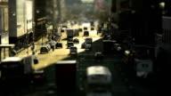NYC traffic, tilt-shift.