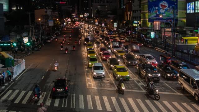 Traffic Time Lapse in bangkok thailand