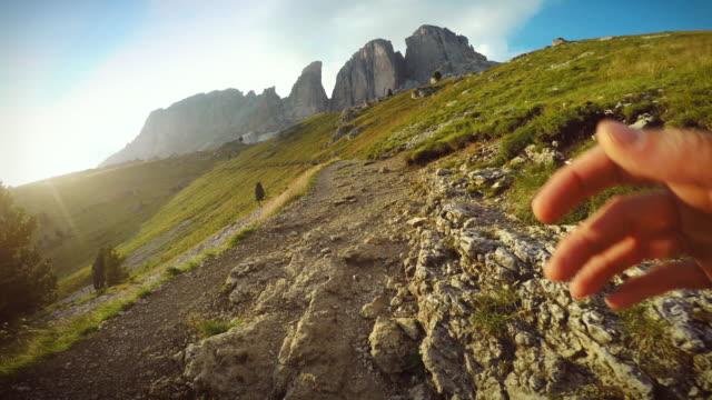 Trail running on the Dolomites POV