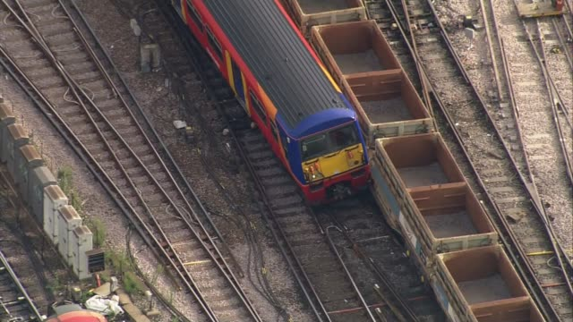 Train derails at Waterloo station causing delays ENGLAND London Waterloo South West Trains train derailed just outside Waterloo station