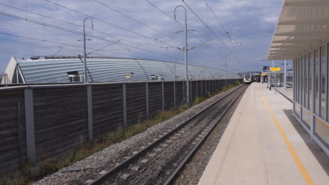TGV Train enters Avignon Train Station