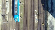 Train from above aerial shot