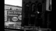 1947 Train POV from tracks above Park Avenue, New York