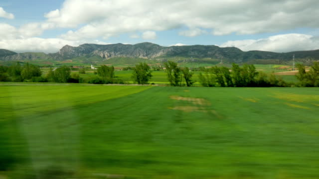 Train landscape view through the window