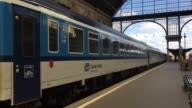 A train leaves Keleti Station on July 15 2016 in Budapest Hungary Last summer thousands of refugees and migrants were using the socalled 'Balkans...