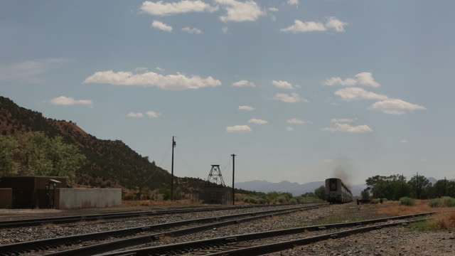 WS train leaving station / Lamy, New Mexico, United States