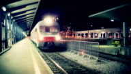 HD-Zug verlassen station