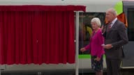 Train named of honour of former football manager Graham Taylor ENGLAND Hertfordshire Watford Watford Station EXT Rita Taylor widow of former England...
