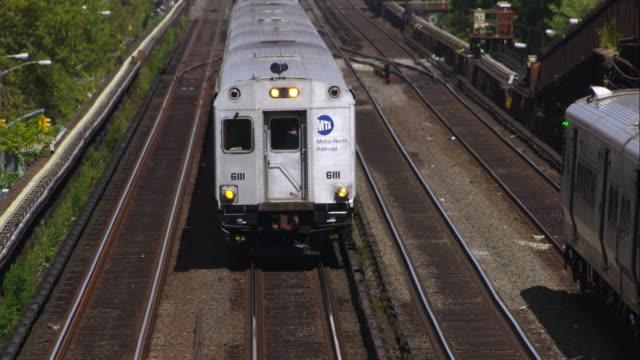 MTA Train on a Raised Track over Harlem
