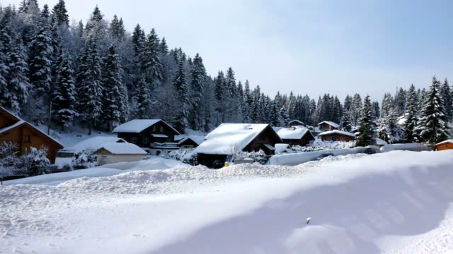 train passing the snow village