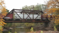 MS Train passing through bridge in four seasons / Clinton, New Jersey, United States