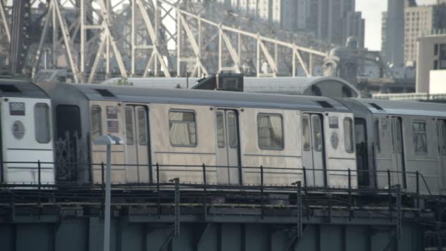 MS 7 train Queensboro bridge background