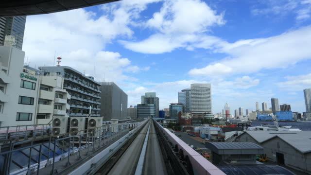Train ride through Tokyo