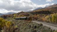 Train Rolling through Scenic Landscape