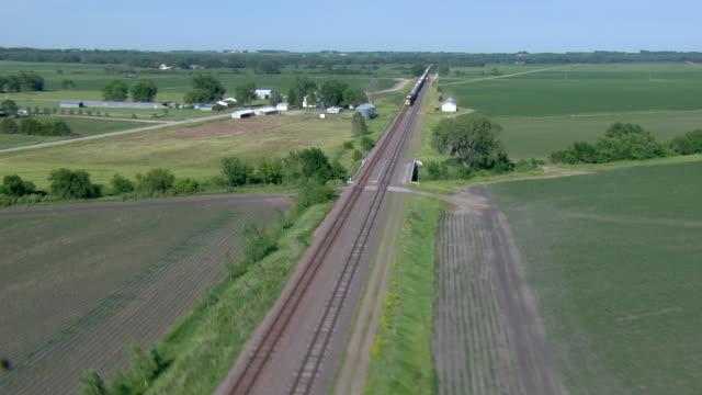 Train running through the contryside