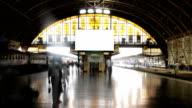 Bahnhof-Zeitraffer