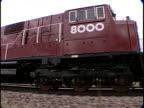 TS, MS, Train traveling through flat plains, Pueblo, Colorado, USA,