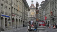Tram on Marktgasse, Bern, Canton of Bern, Bernese Oberland, Swiss Alps, Switzerland, Europe