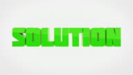 Transforming 3D Words Animation - PROBLEM To SOLUTION (With Luma/Alpha)