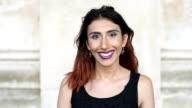 Transgender female smiling portrait