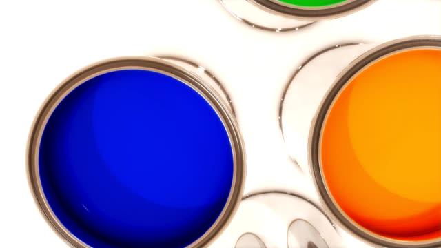 Übergang von blu, cyan Farbe bucket