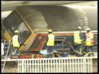 Rail Safety Report Finds Widespread Arson and Vandalism LIB Hertfordshire Potters Bar Front of carriage of West Anglia Great Northern Service train...