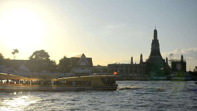 transportation on river at Wat Arun, Bangkok, Thailand