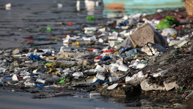 HD-Müll am Fluss bank schmutzig