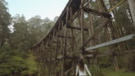 Travel Like a Local - Brief - young woman in a historic timber bridge in Yarra Valley, Melbourne, Victoria