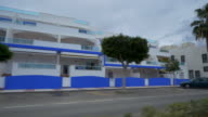 travel shot, holiday apartments on avenue at Cabo de Gata
