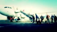 Traveler at Airport transportation