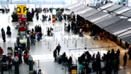 Traveler crowd at Airport .