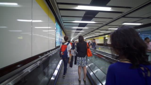 Traveler Crowd Subway Train Station in Hong Kong