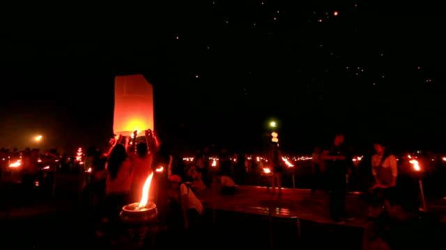 Traveler nel cielo Festival delle lanterne
