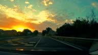 Traveling at dusk.