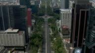 Traveling down the Avenue of Paseo de la Reforma in Mexico City.