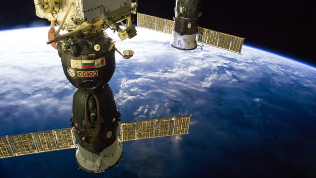 ISS Traveling Over Oceania - Timelapse