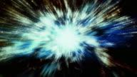 Traveling through star fields in space (Loop).