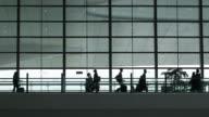 Travellers walking in Airport