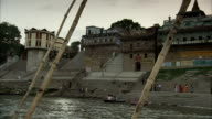 Travelling along the River Ganges.